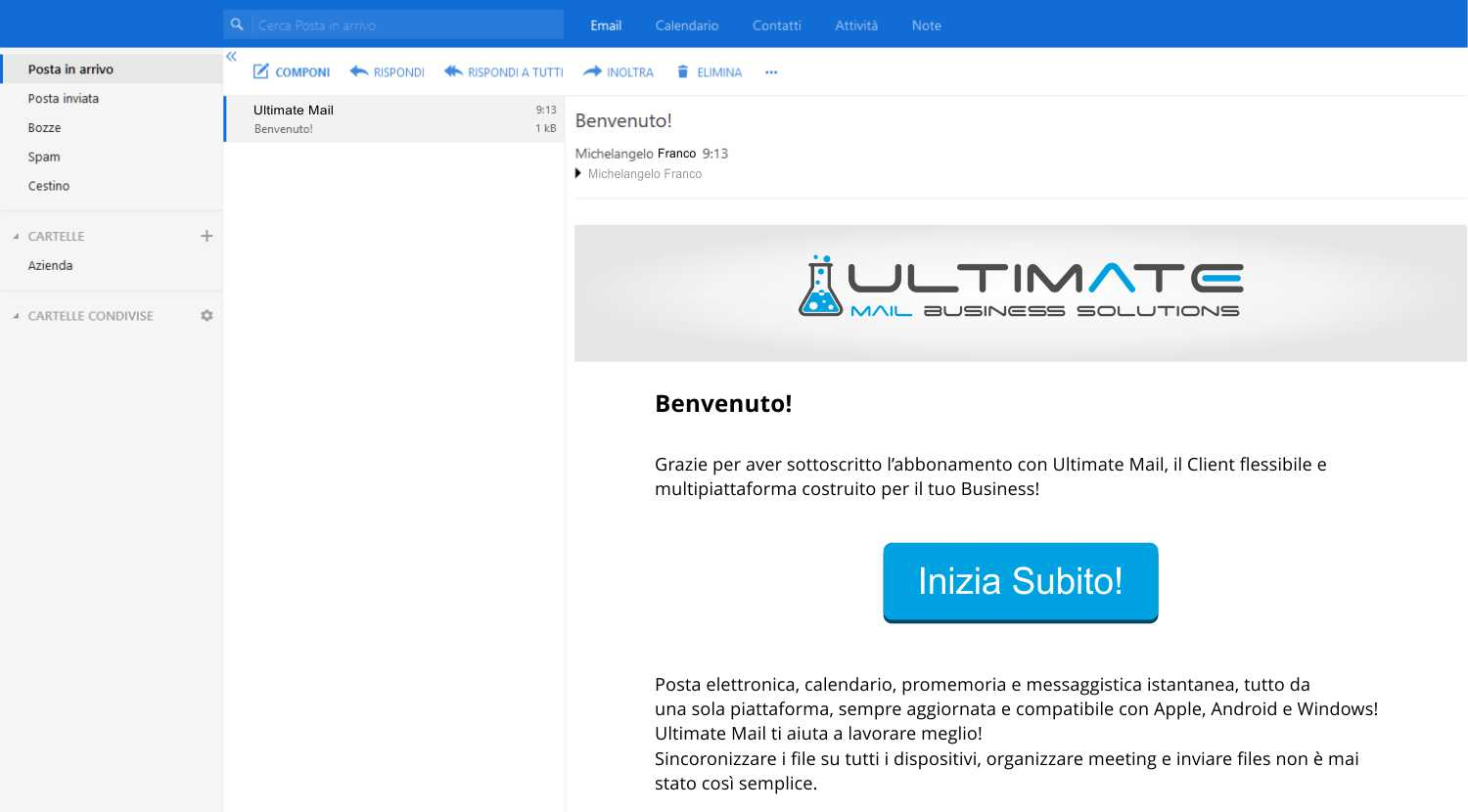 email professionale screenshot 1